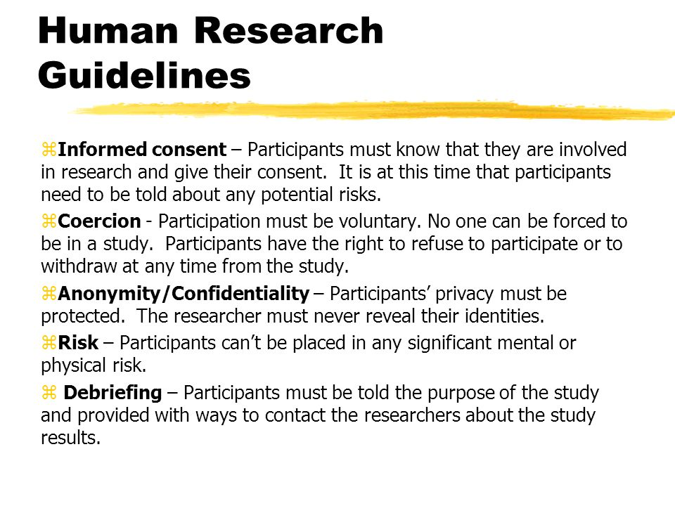 Human Research Guidelines