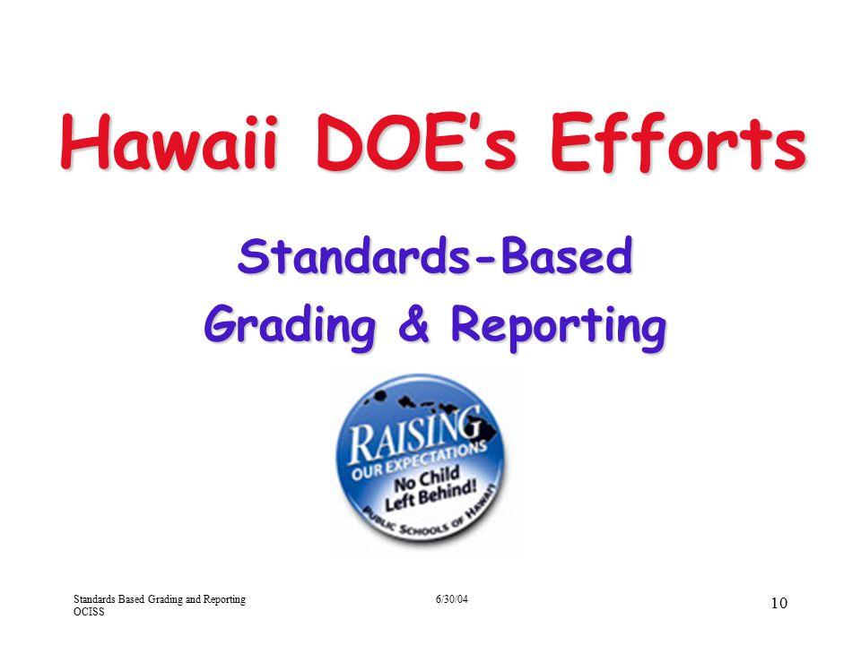 Standards-Based Grading & Reporting