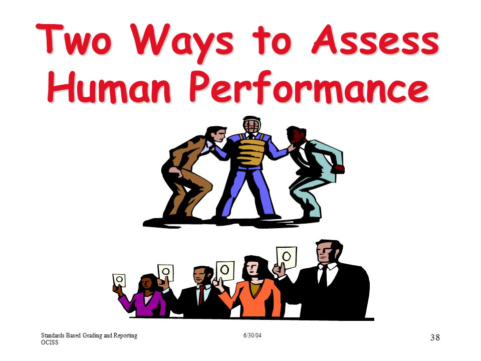 Two Ways to Assess Human Performance