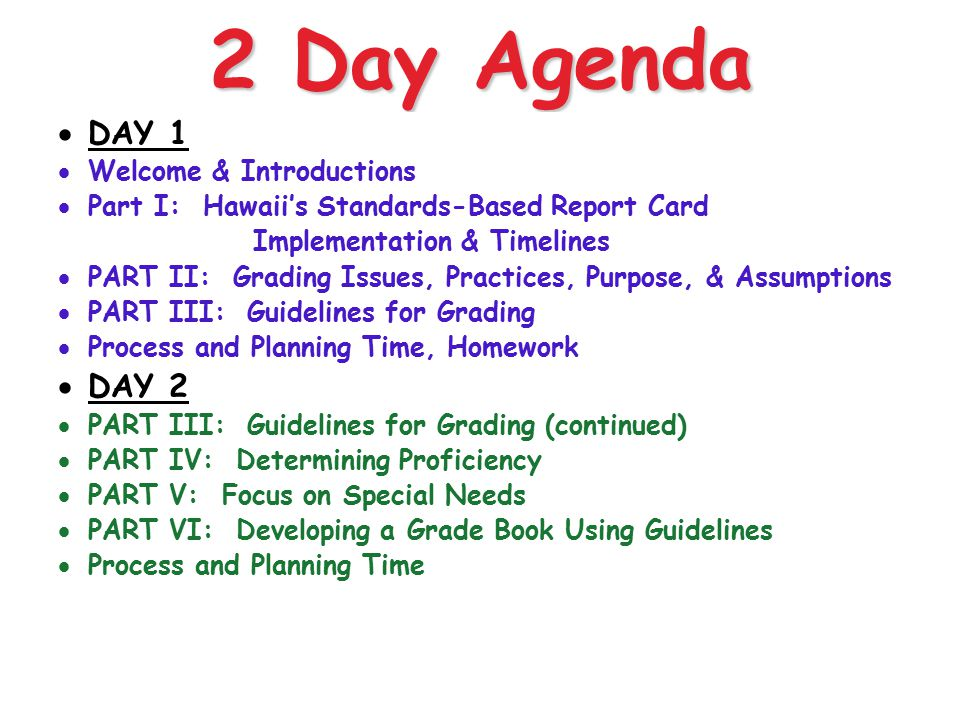 2 Day Agenda DAY 1 DAY 2 Welcome & Introductions