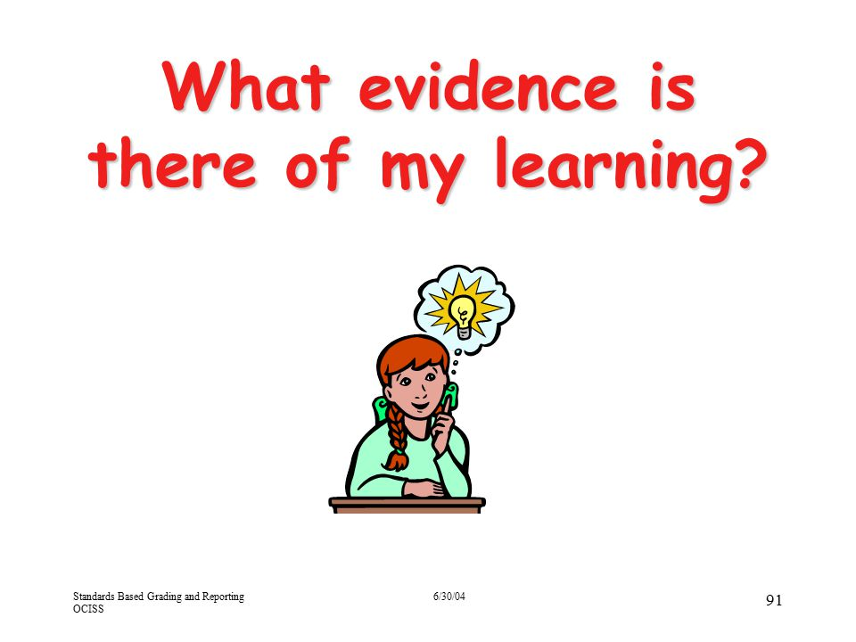 What evidence is there of my learning