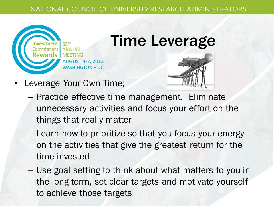 Time Leverage Leverage Your Own Time;