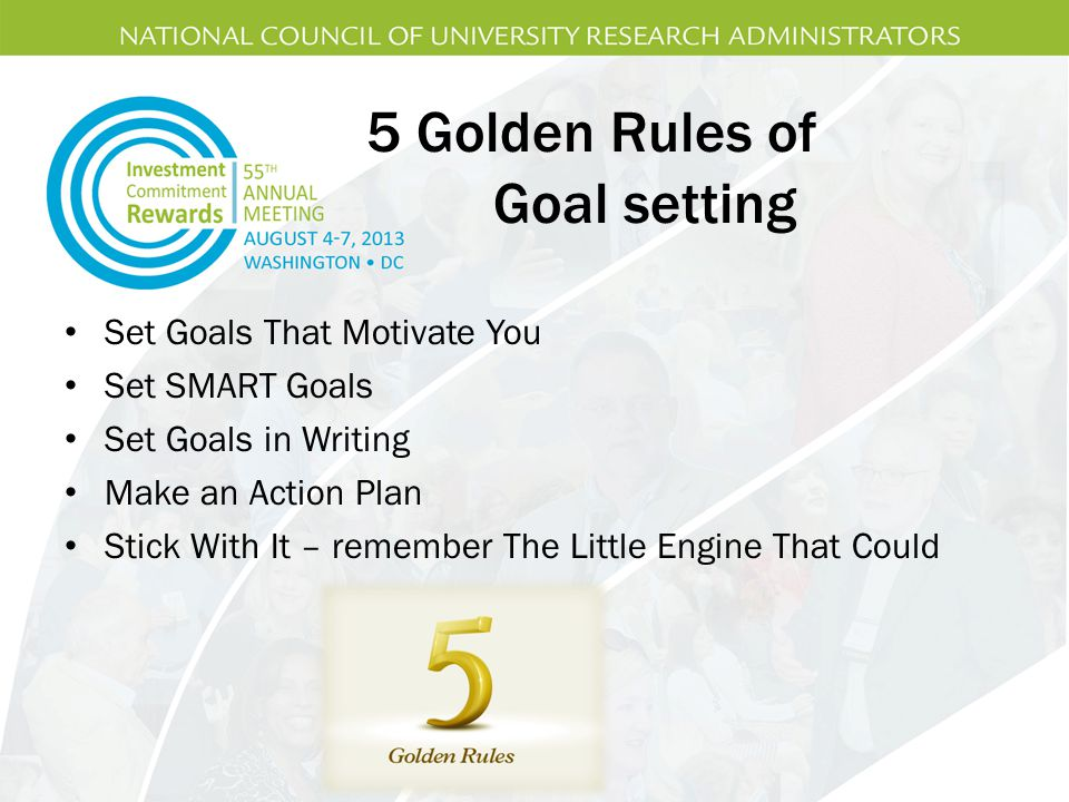 5 Golden Rules of Goal setting