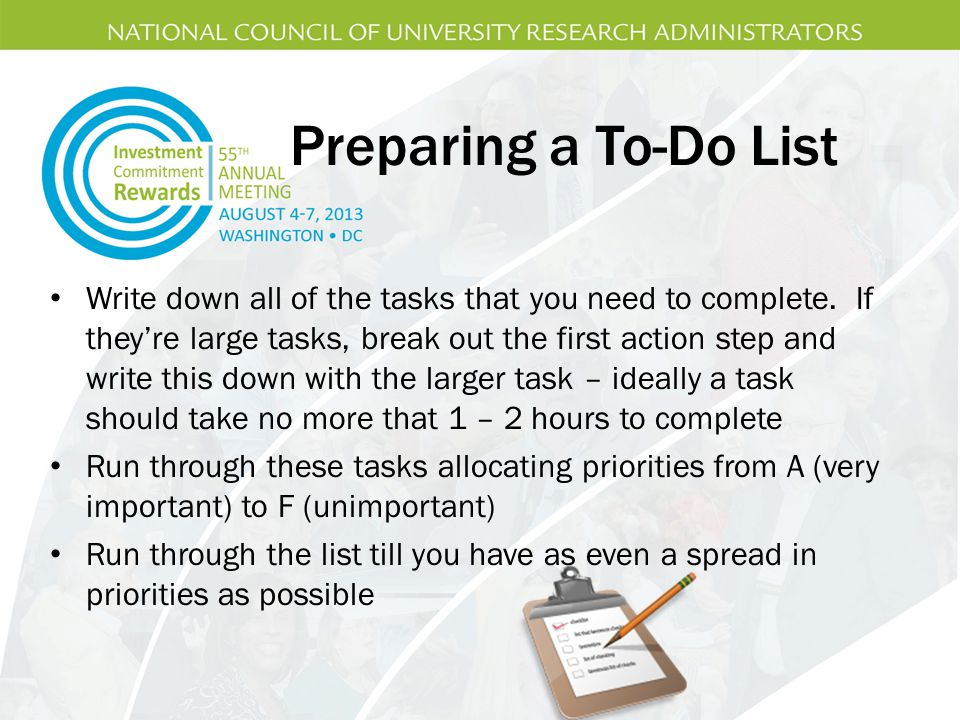 Preparing a To-Do List