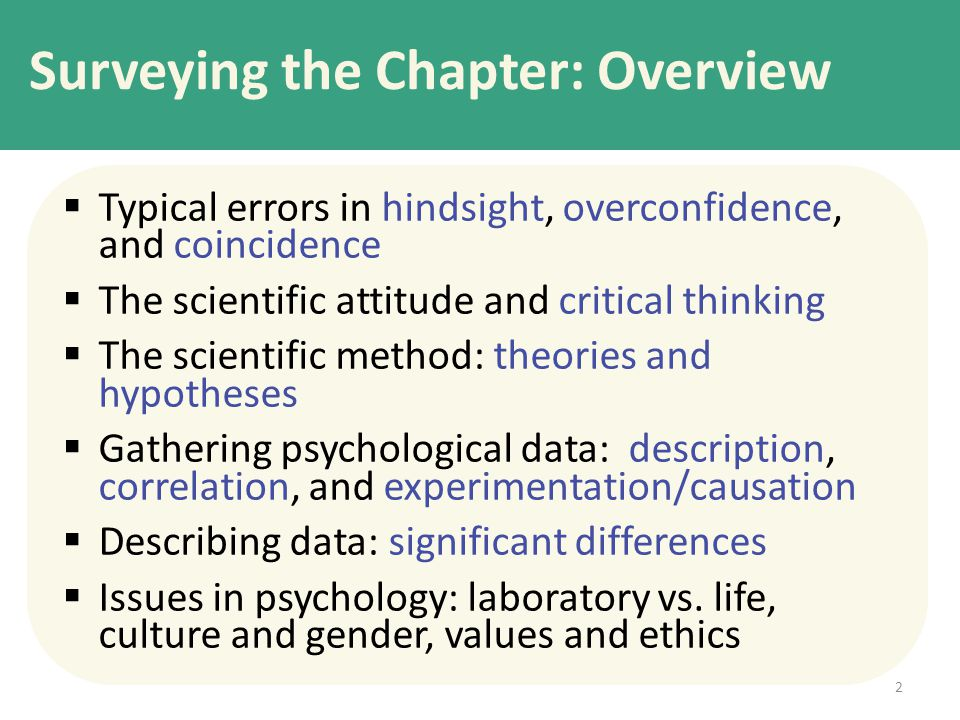 Surveying the Chapter: Overview