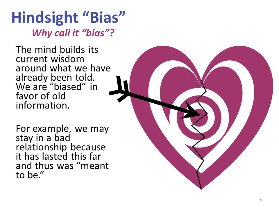 Hindsight Bias Why call it bias