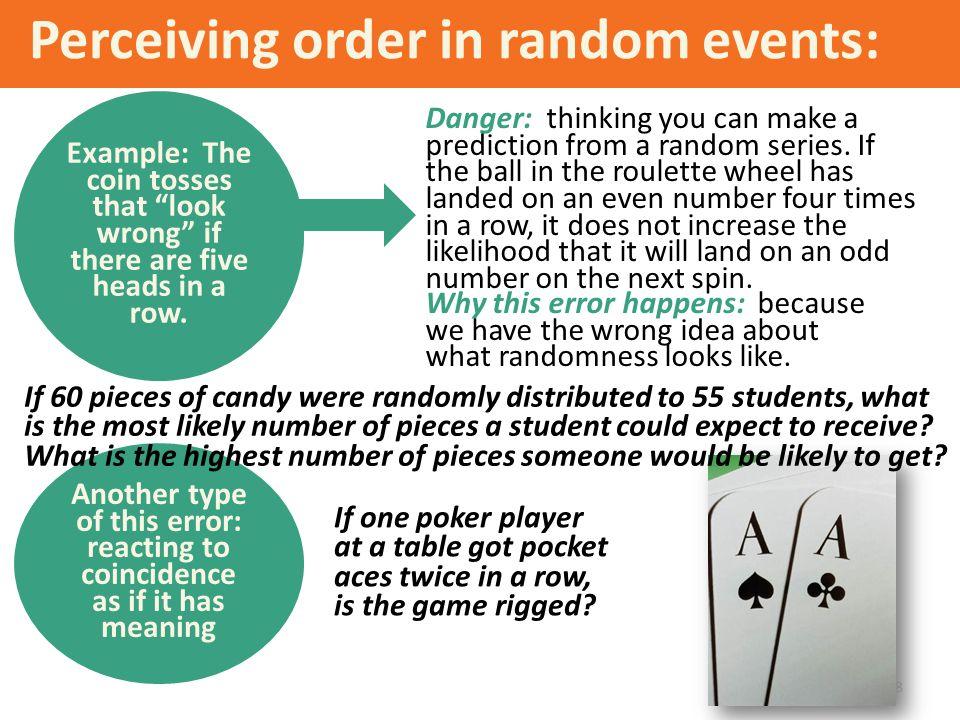 Perceiving order in random events: