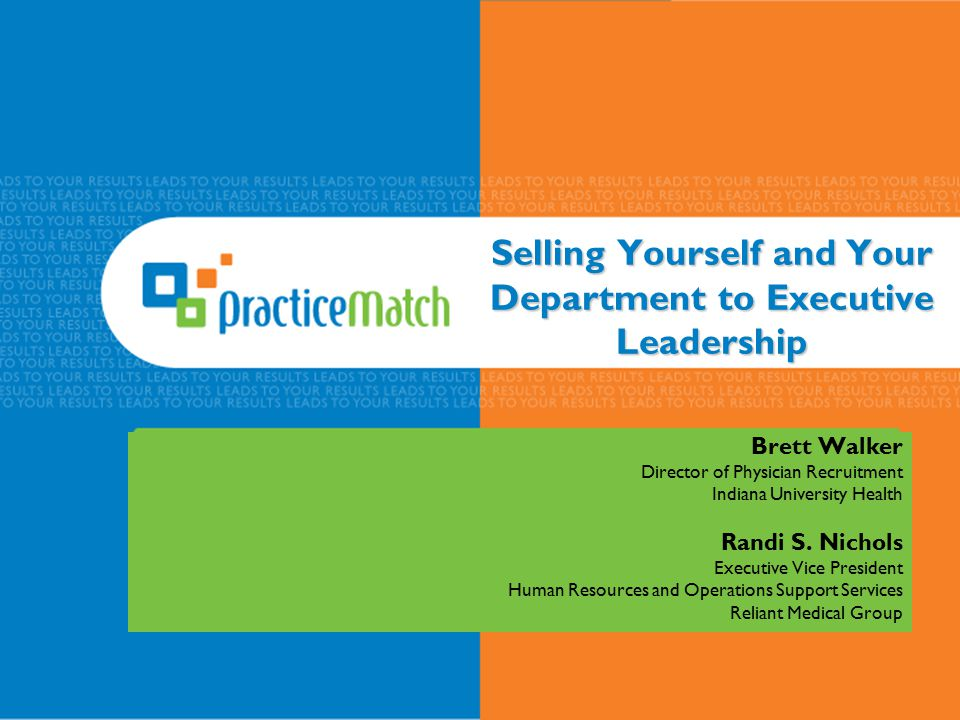 Selling Yourself and Your Department to Executive Leadership