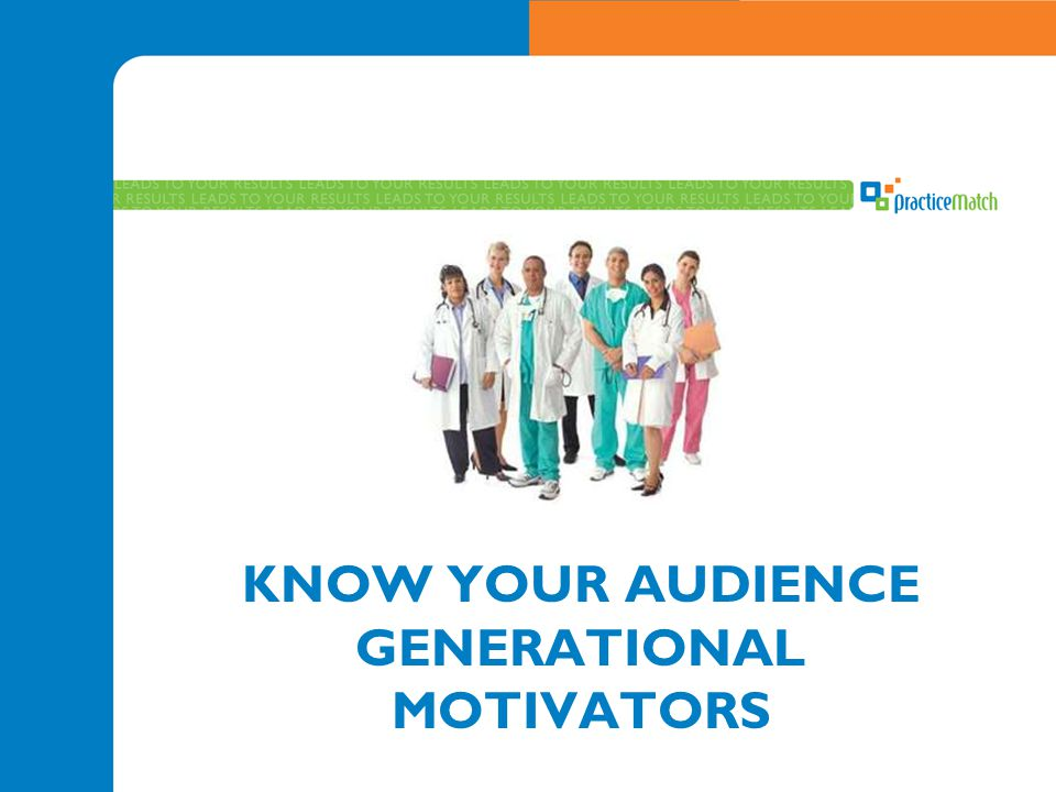 KNOW YOUR AUDIENCE GENERATIONAL MOTIVATORS