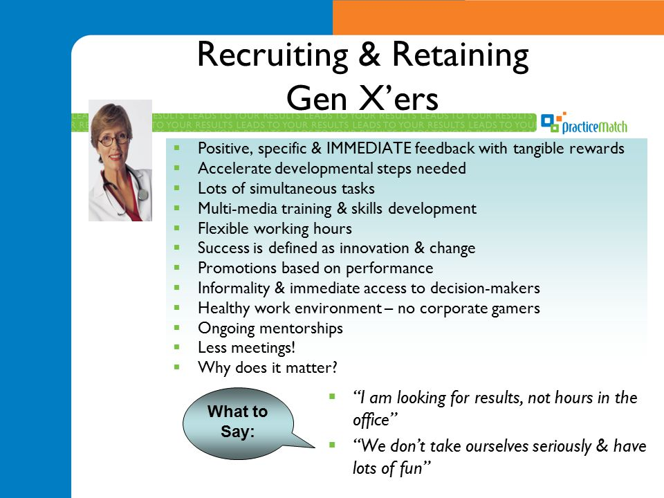 Recruiting & Retaining Gen X'ers