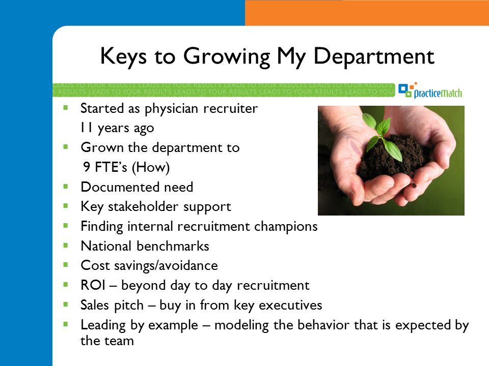 Keys to Growing My Department