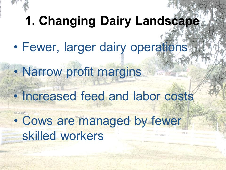 1. Changing Dairy Landscape