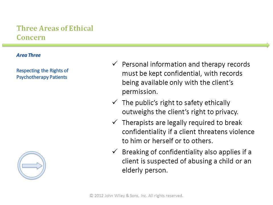 Three Areas of Ethical Concern
