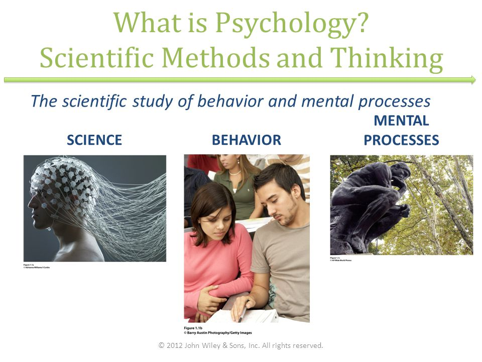 What is Psychology Scientific Methods and Thinking