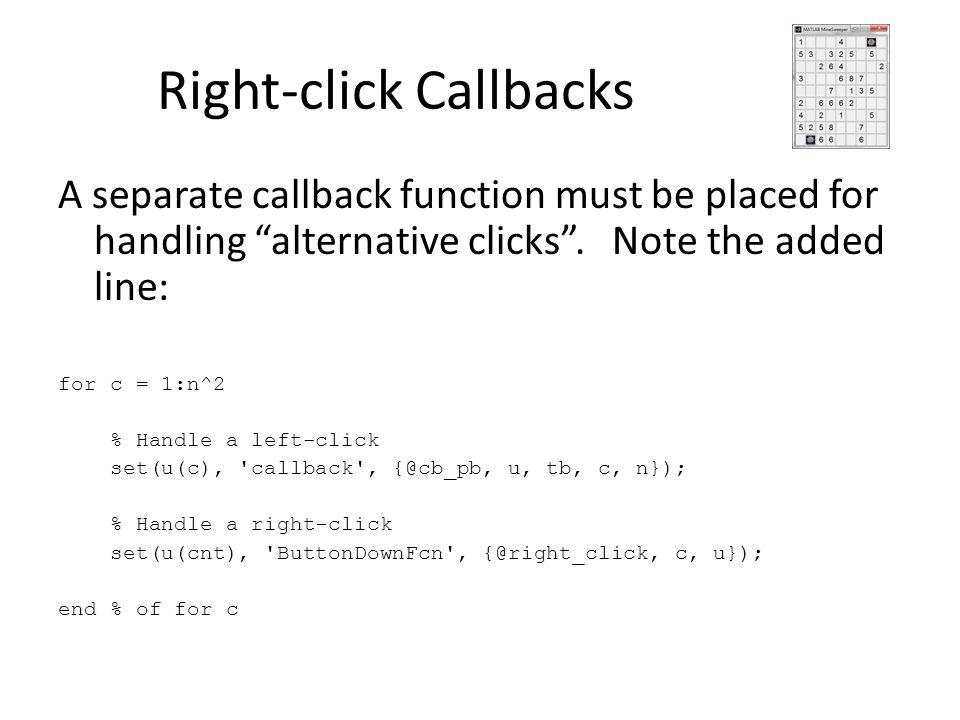 Right-click Callbacks