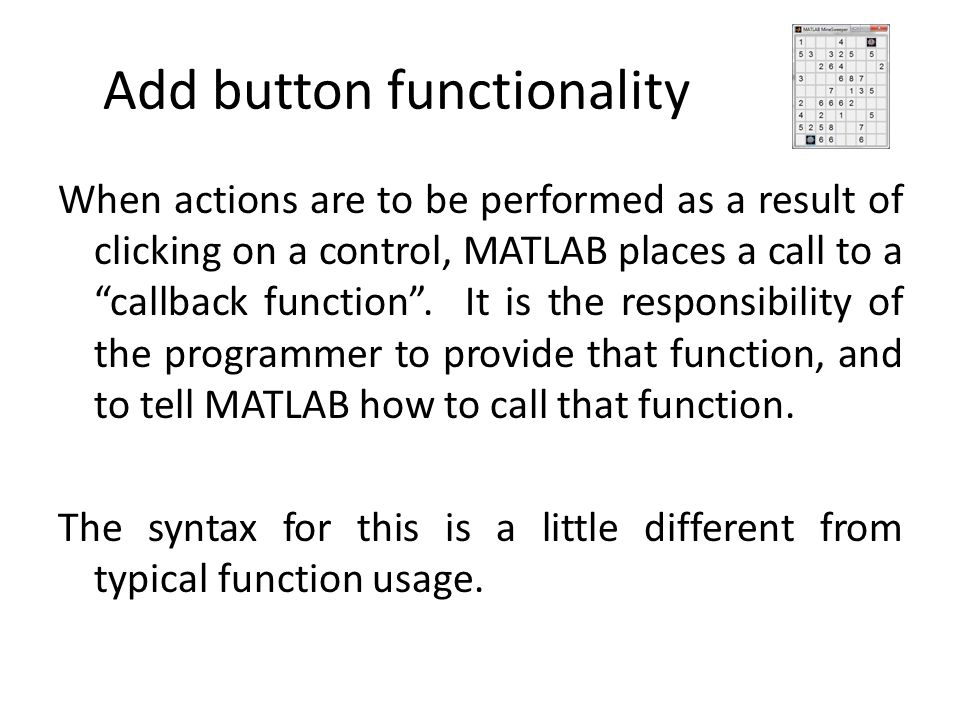 Add button functionality