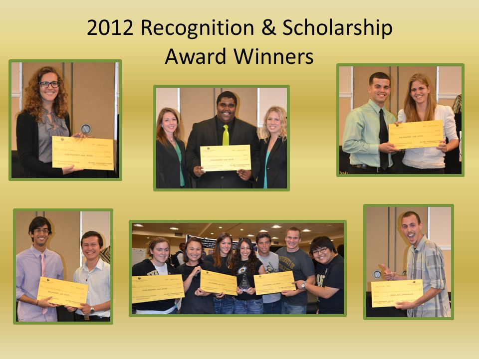 2012 Recognition & Scholarship Award Winners