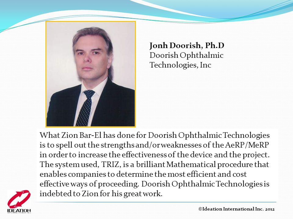 Doorish Ophthalmic Technologies, Inc