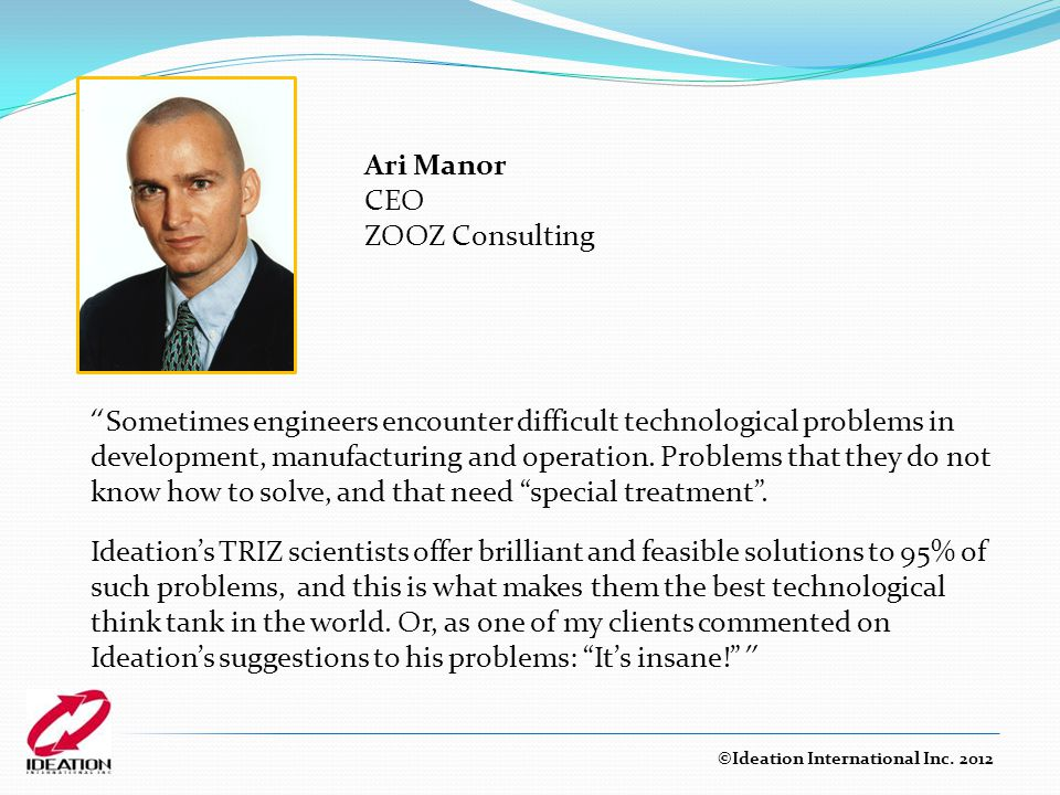 Ari Manor CEO ZOOZ Consulting