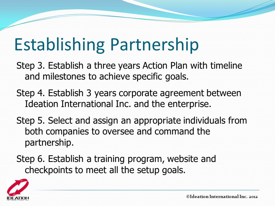 Establishing Partnership