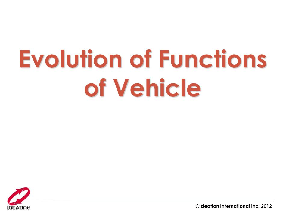 Evolution of Functions