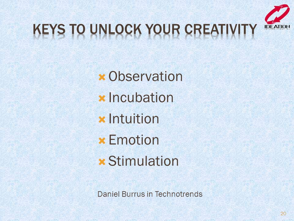 Keys to Unlock Your Creativity
