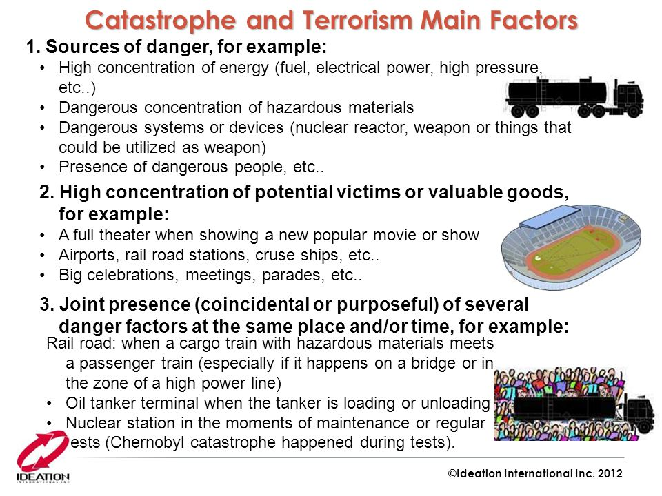 Catastrophe and Terrorism Main Factors