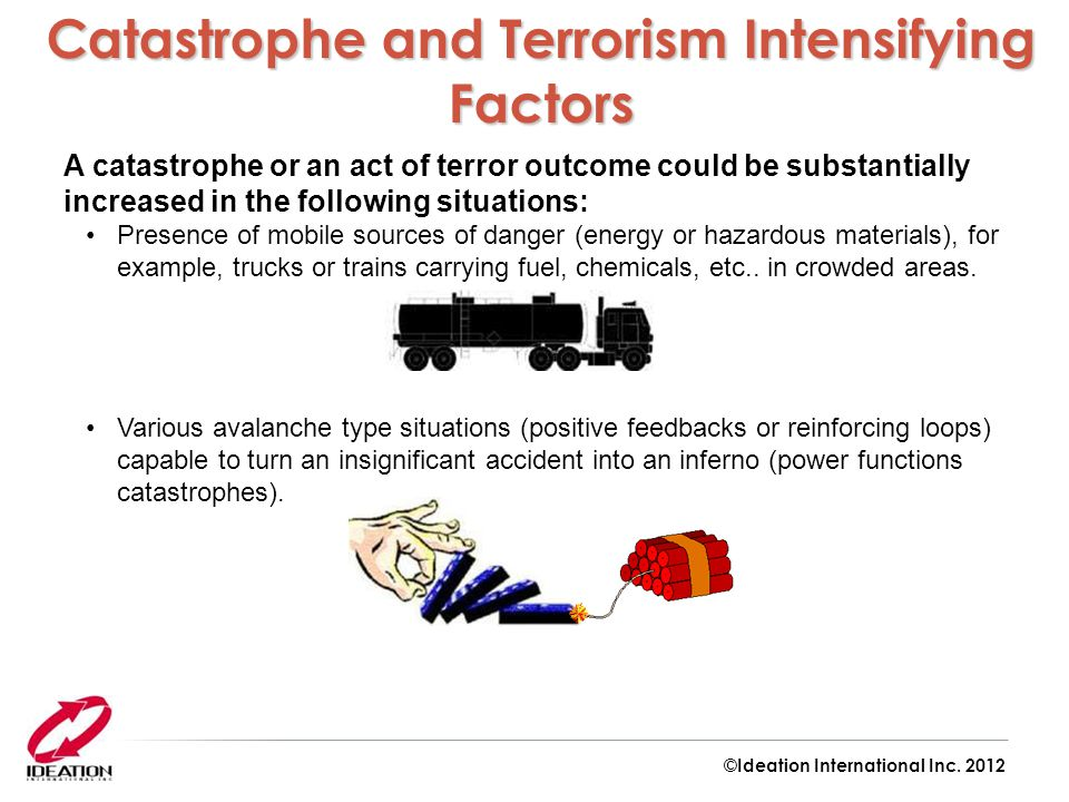 Catastrophe and Terrorism Intensifying Factors