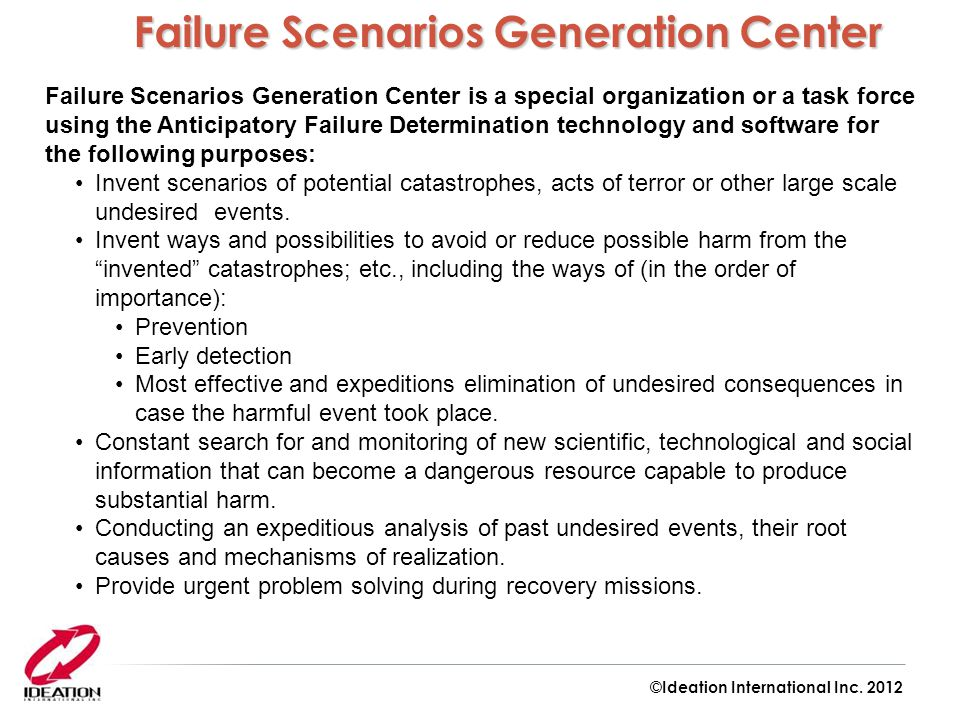 Failure Scenarios Generation Center