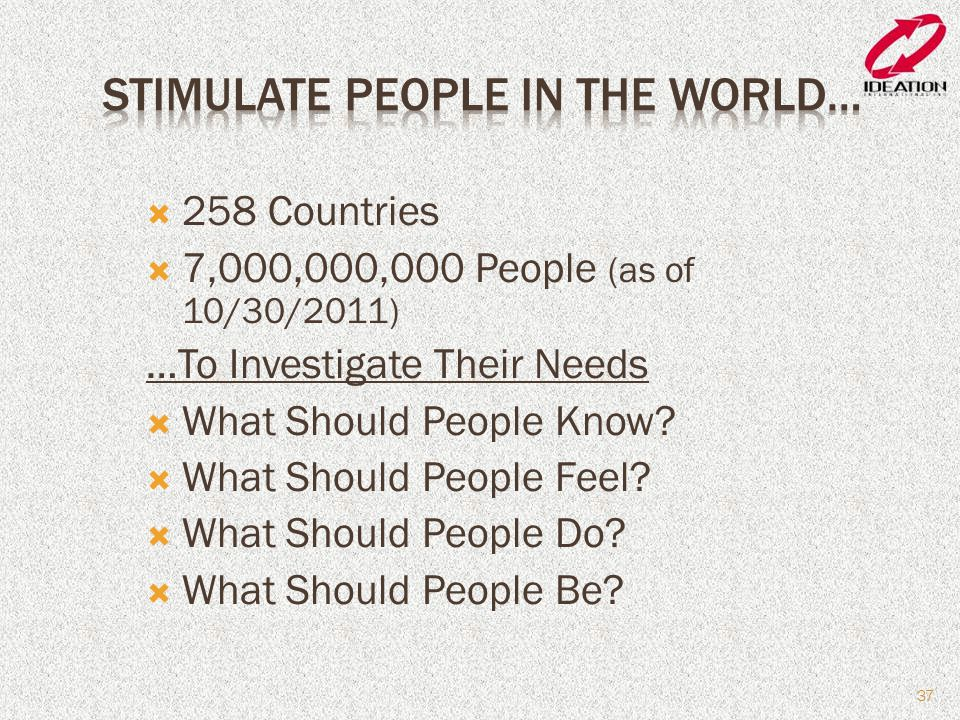 Stimulate People in the World…