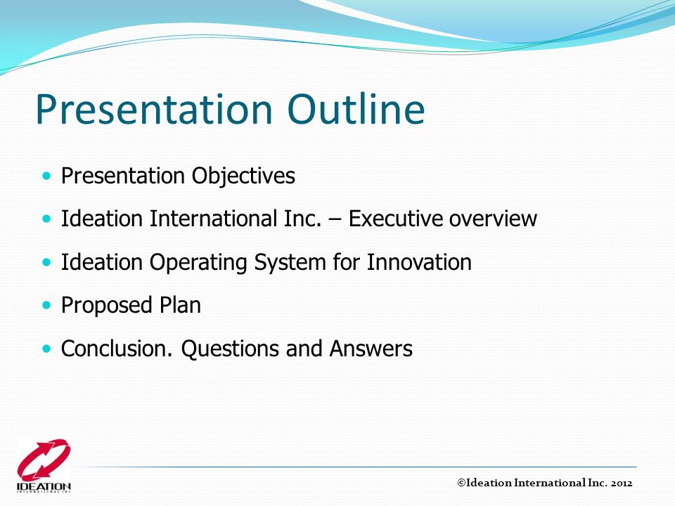 Presentation Outline Presentation Objectives