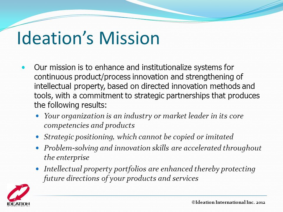 Ideation's Mission