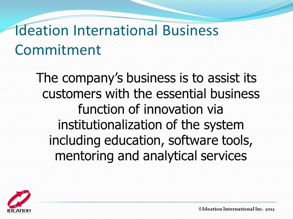 Ideation International Business Commitment