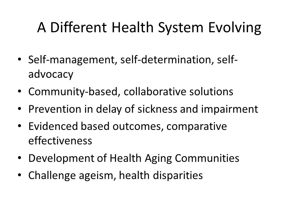 A Different Health System Evolving