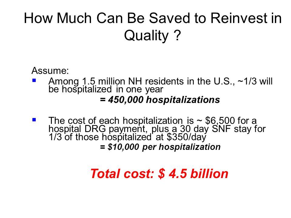 = $10,000 per hospitalization