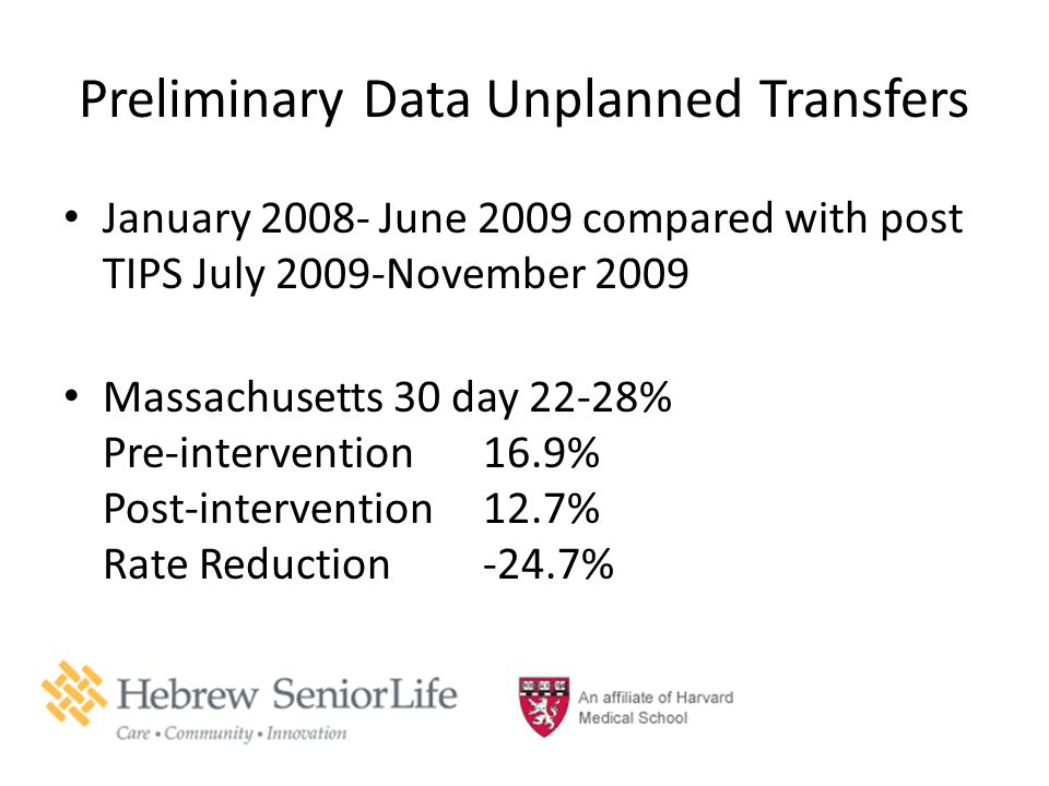 Preliminary Data Unplanned Transfers