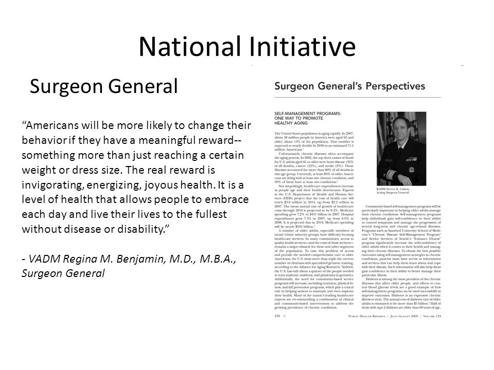 National Initiative Surgeon General