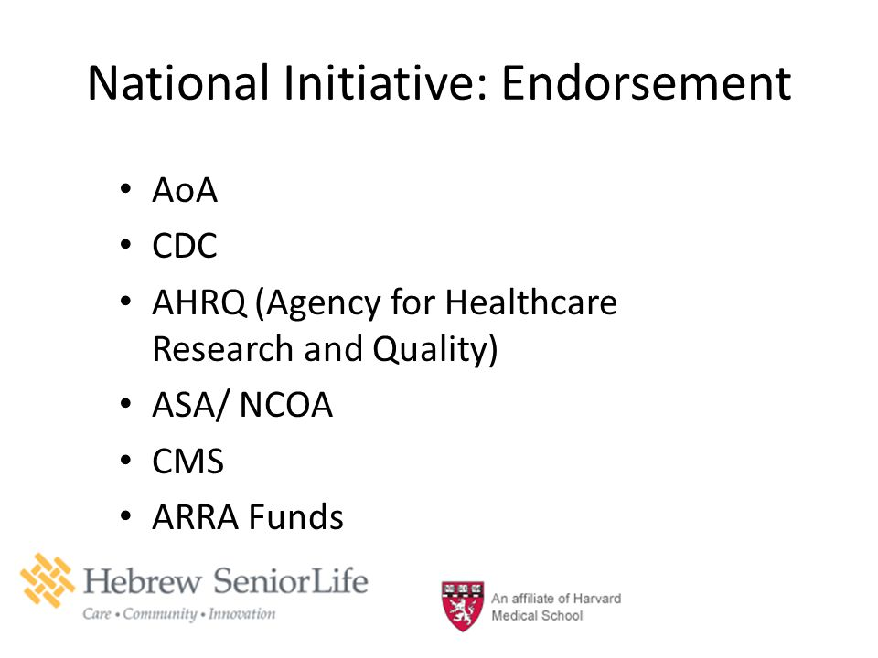 National Initiative: Endorsement