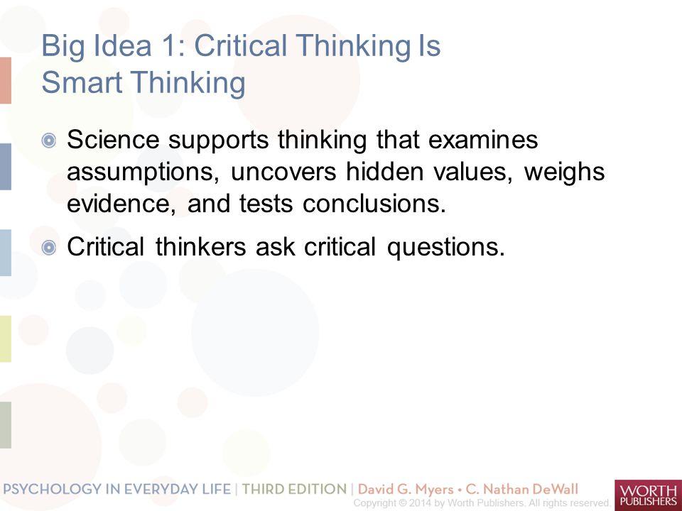 Big Idea 1: Critical Thinking Is Smart Thinking