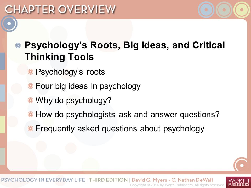 psychology critical thinking essay To integrate psychology's work with benchmarking schol-arship in higher education executive summary guidelines 20 abandoned the original dis- and critical-thinking skills developed in research methods and statistics courses.