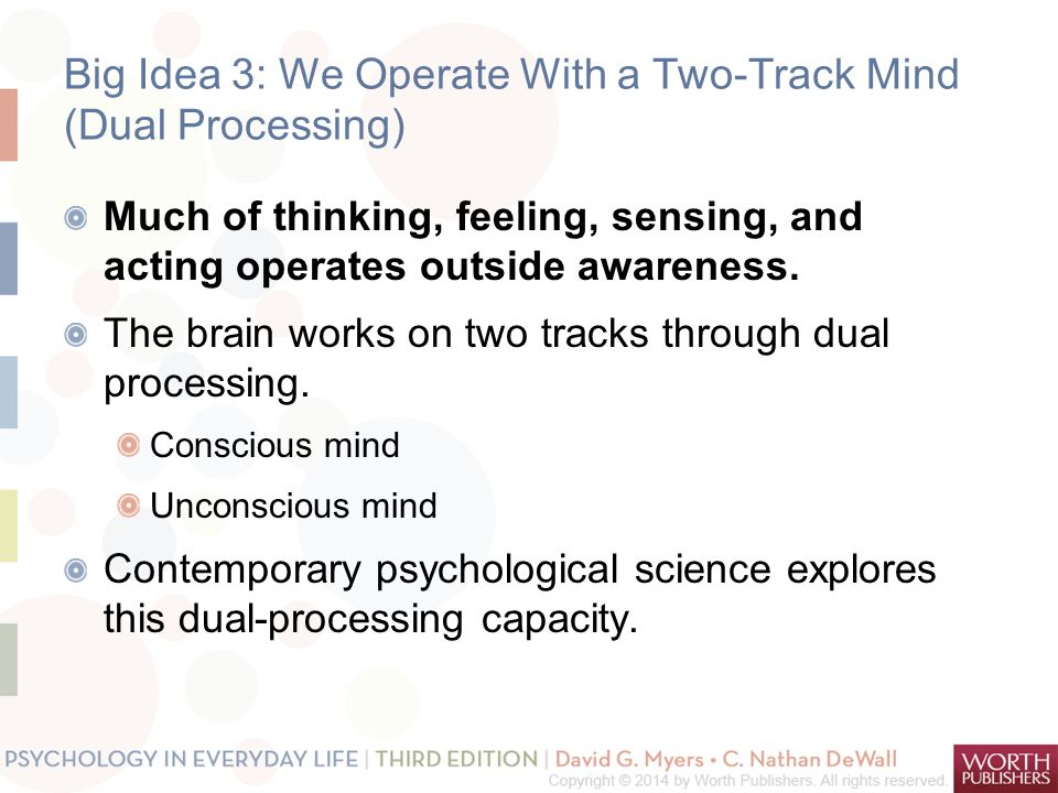 Big Idea 3: We Operate With a Two-Track Mind (Dual Processing)