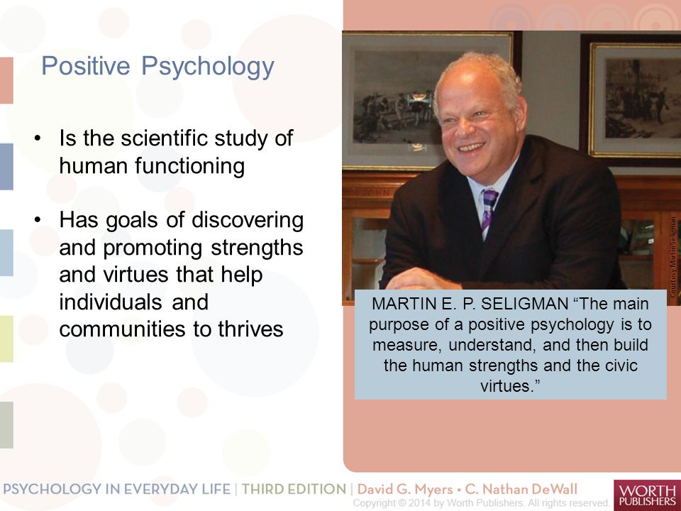 Positive Psychology Is the scientific study of human functioning