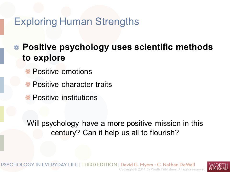Exploring Human Strengths