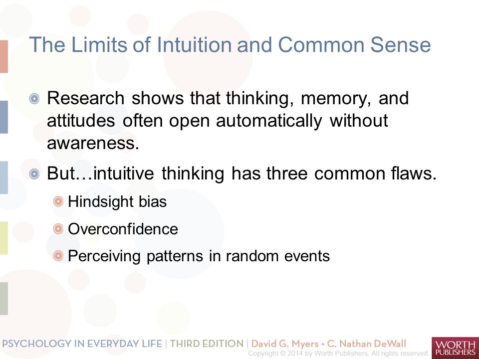 The Limits of Intuition and Common Sense