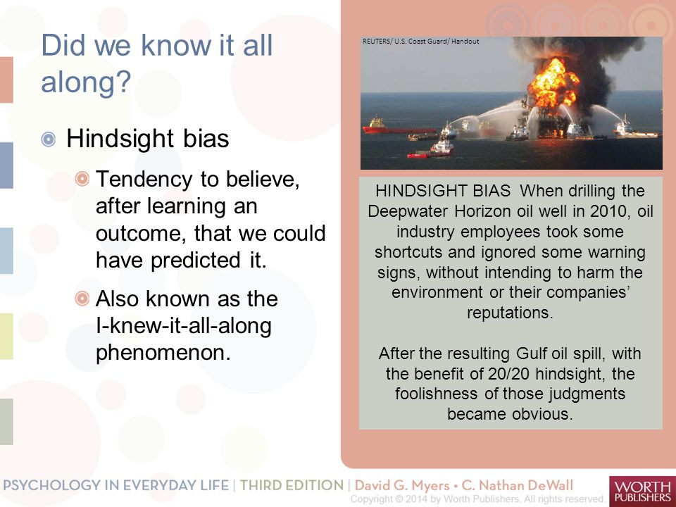 Did we know it all along Hindsight bias