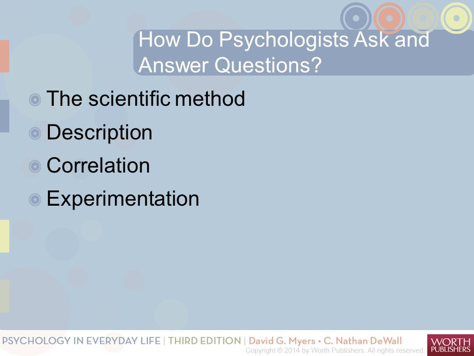 How Do Psychologists Ask and Answer Questions