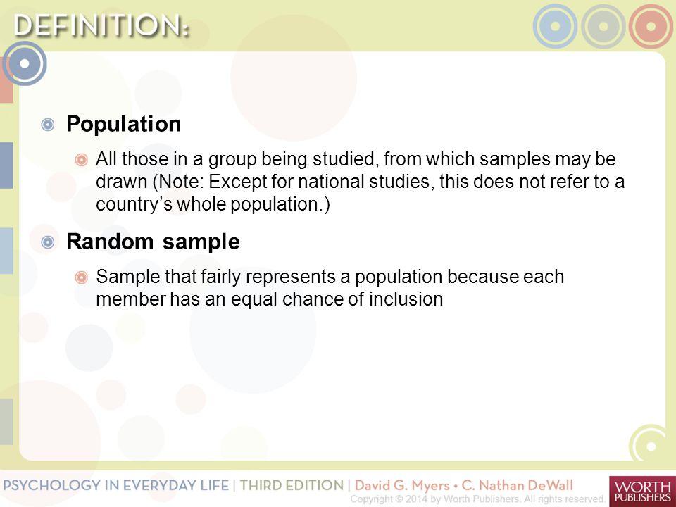 Population Random sample