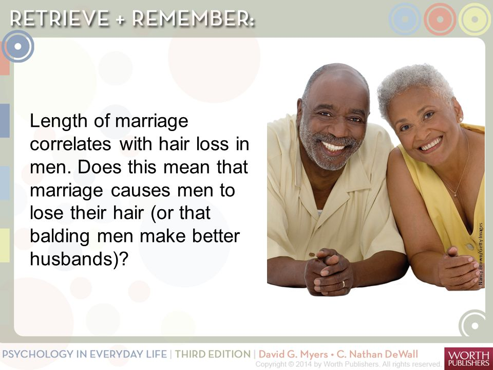 Length of marriage correlates with hair loss in men