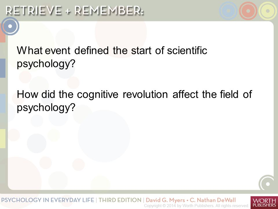 What event defined the start of scientific psychology