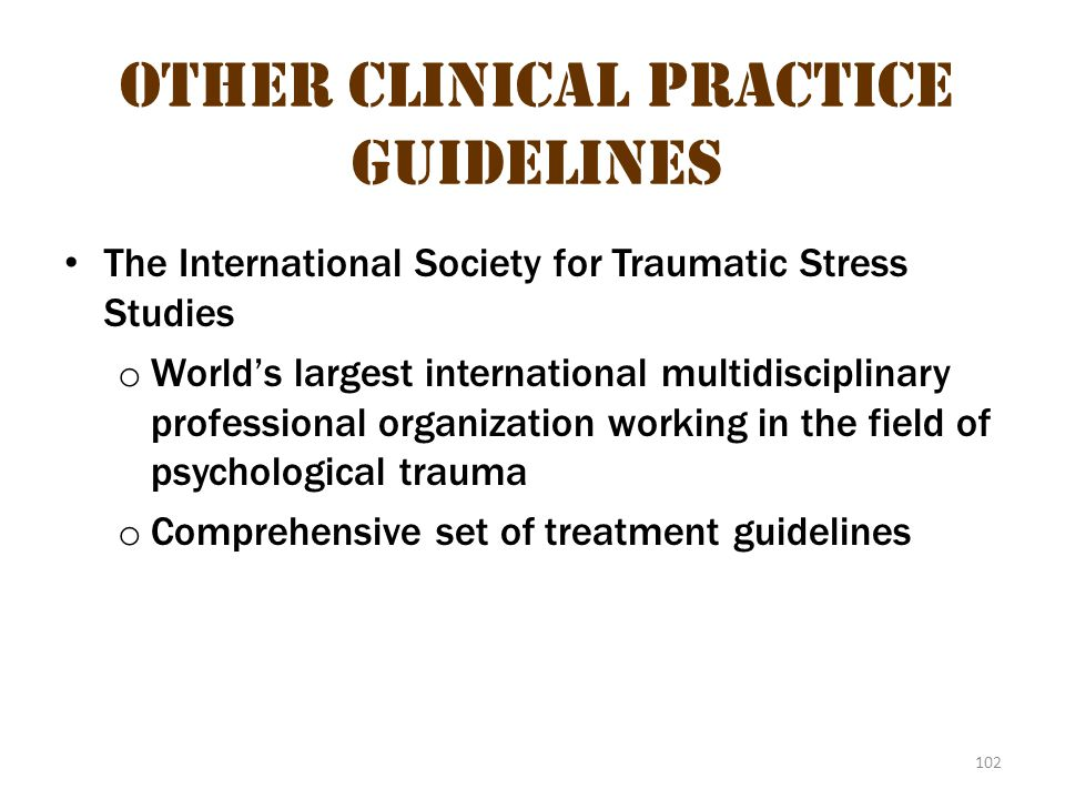 Other Clinical Practice Guidelines 1